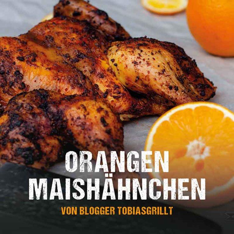 Grillrezept: Orangen Maishähnchen