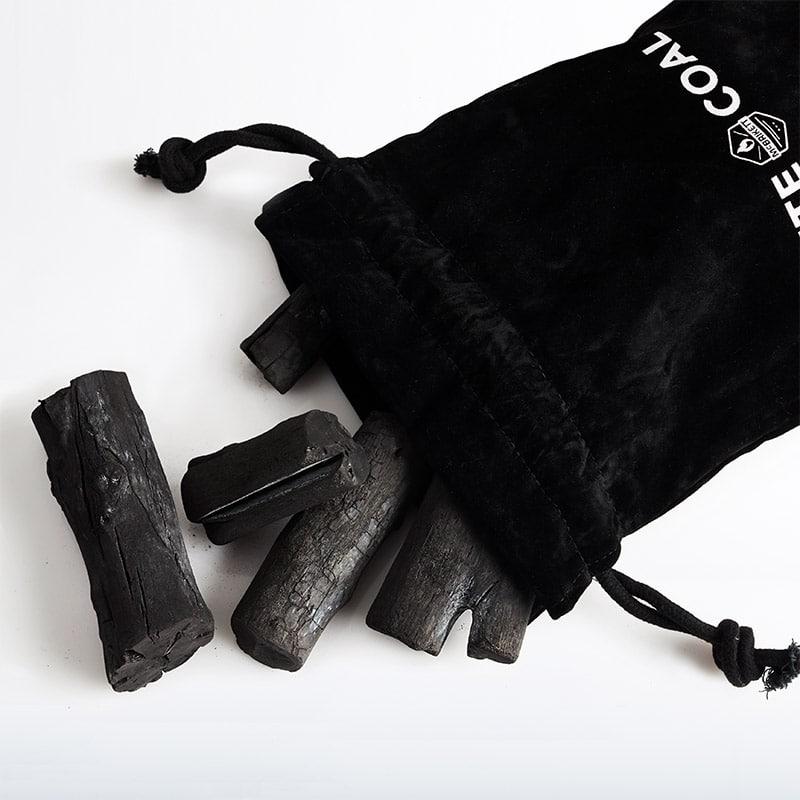 White Coal - Binchotan Premuim Holzkohle aus Japan im Samtbeutel