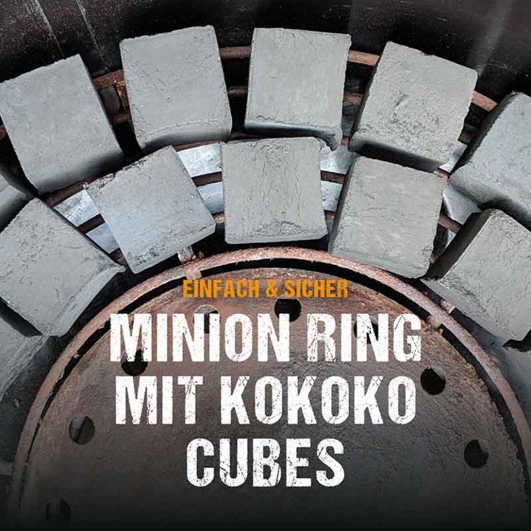 Minion Ring mit KOKOKO CUBES für Longjobs im Kugelgrill