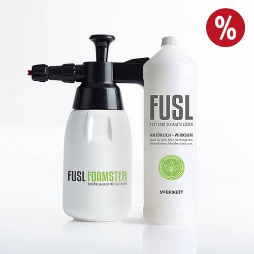 FUSL - Fett und Schmutz Löser / Universalreiniger - Set aus FOAMSTER und FUSL 1l