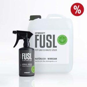 FUSL - Fett und Schmutz Löser / Universalreiniger - Kombi-Angebot: 500ml Sprühflasche und 5l Kanister