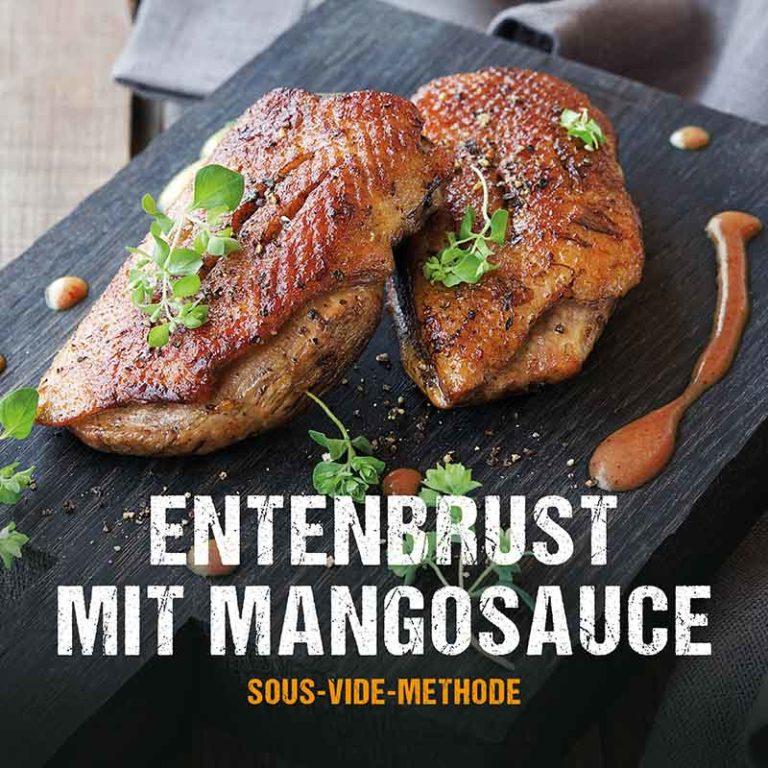 Grillrezept: Entenbrust mit Mangosauce