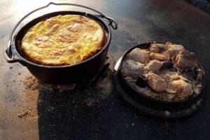 Dutch Oven Gericht: Westfälische Potthucke zubereitet mit KOKOKO EGGS