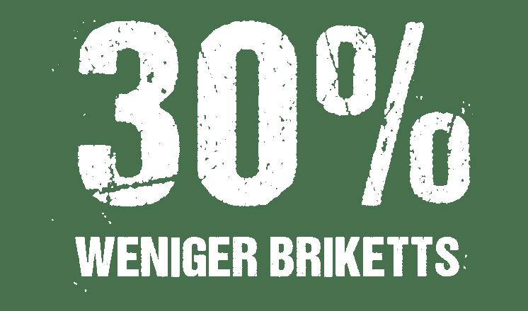 30% weniger Grillbriketts bei Kokoskohle von McBrikett Icon