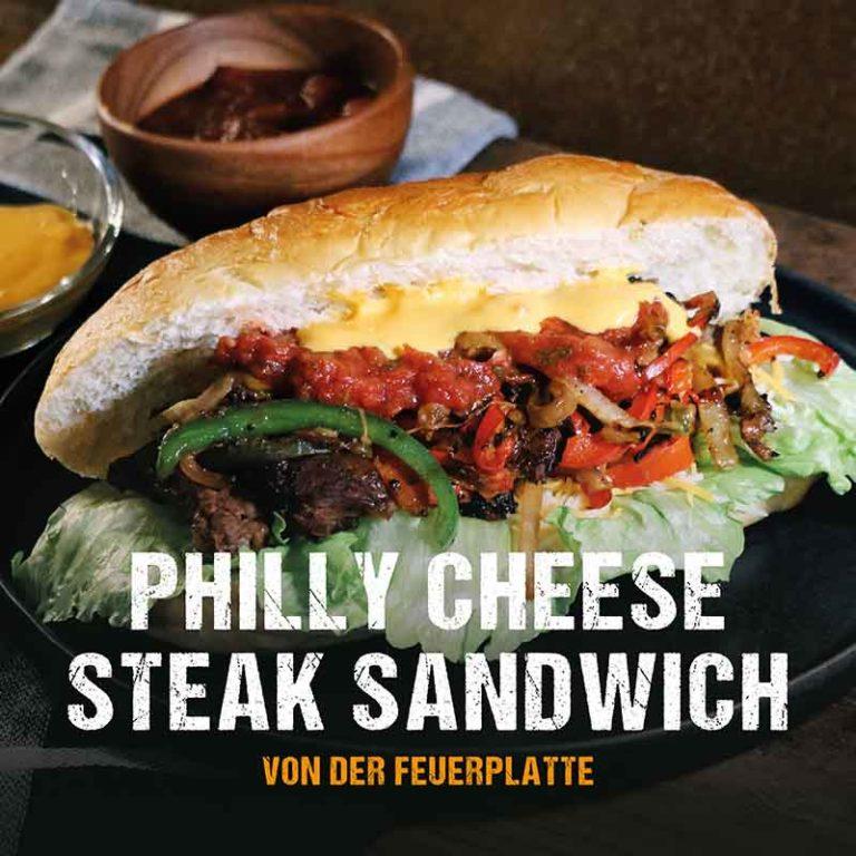 Grillrezept: Philly Cheese Steak Sandwich von der Feuerplatte