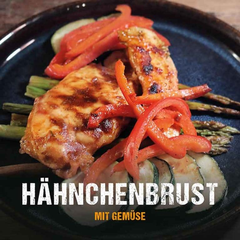 Grillrezept: Hähnchenbrust mit Grillgemüse