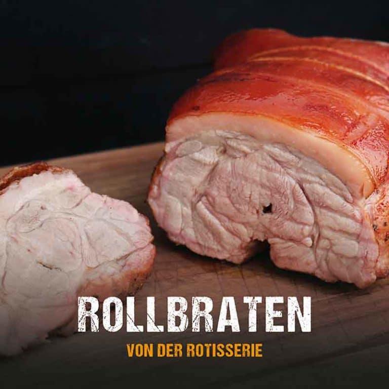 Grillrezept: Rollbraten von der Rotisserie