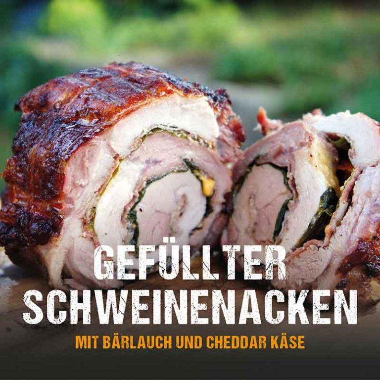 Grillrezept: gefüllter Schweinenacken