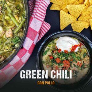 Dutch Oven Rezept: Grünes Chili mit Hähnchen