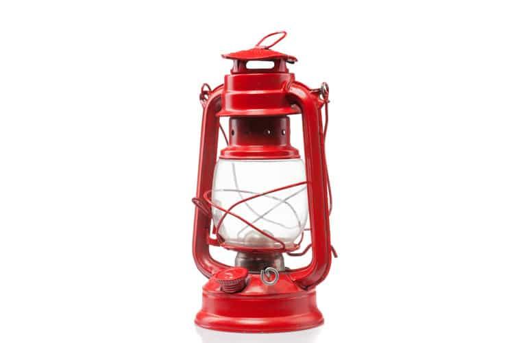 Sturmlampe für stilvolles Balkongrillen