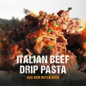 Dutch Oven Rezept: Pulled Beef Pasta