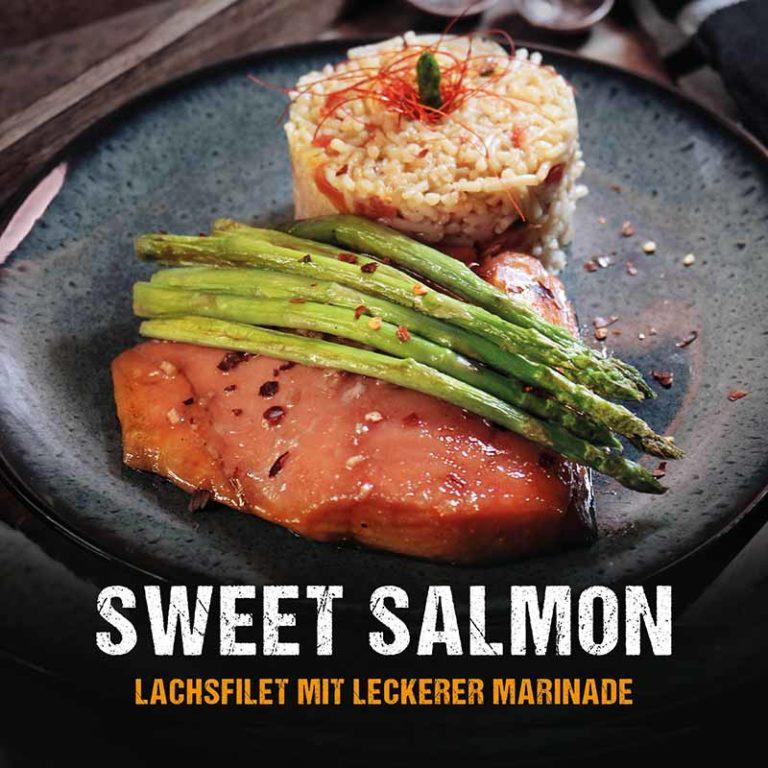 Grillrezept: Lachsfilet mit Spargel