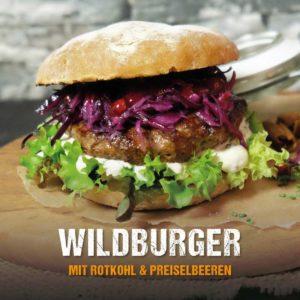 Grillrezept: Wildburger mit Rotkohl und Preiselbeeren