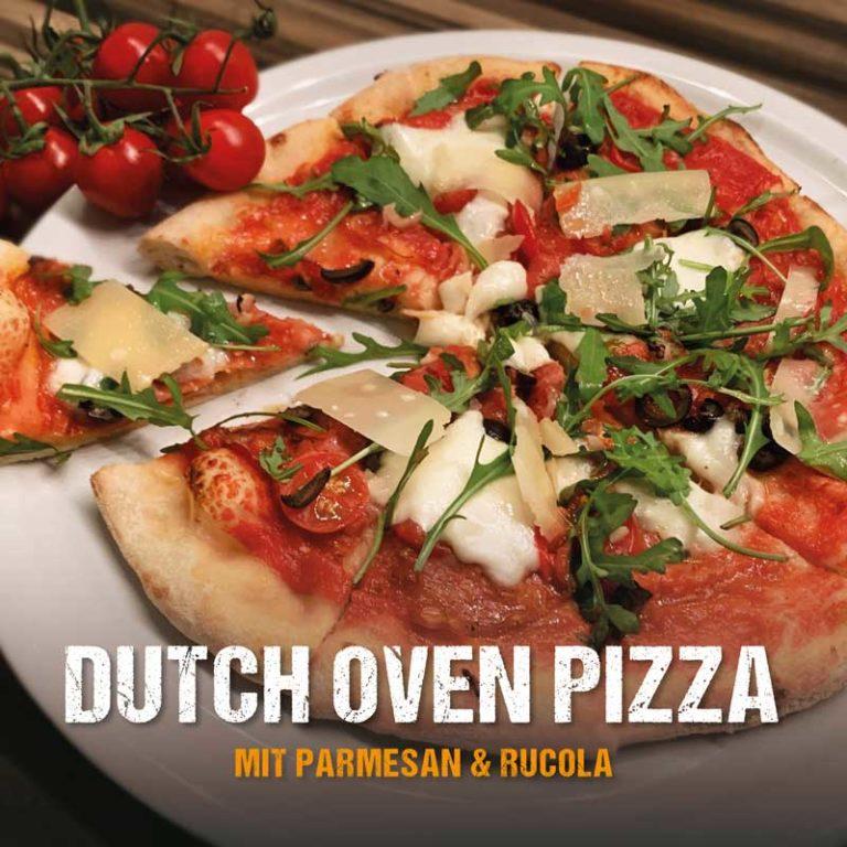 Knusprige Dutch Oven Pizza