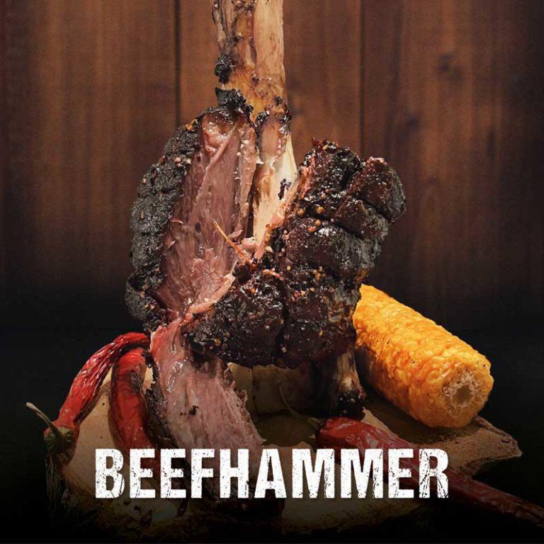 Saftiger Beef Hammer vom Grill