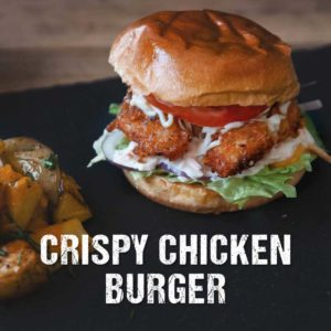 Crispy Chicken Burger vom Grill