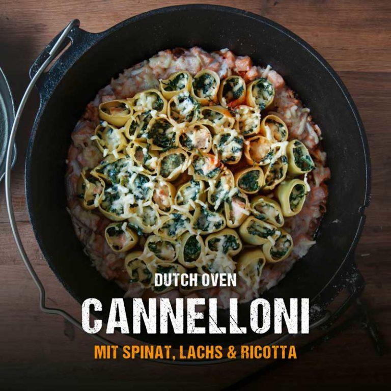 Gefüllte Cannelloni aus dem Dutch Oven