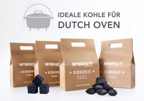 Dutch Oven Grillbriketts Kokoskohle von McBrikett